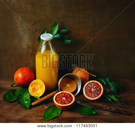 Bottle Of Fresh Squeezed Orange Juice