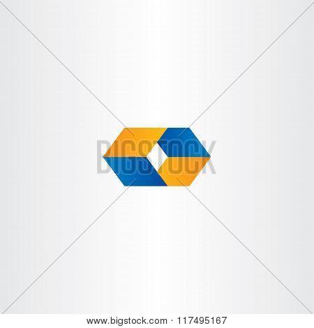 Logo O Letter O Orange Blue Logotype Vector