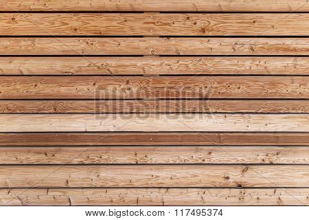 Horizontal board wall