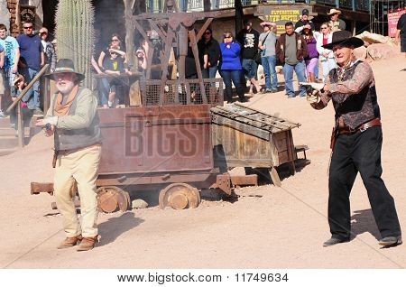 Old Western Gunfight