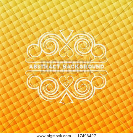 Abstract Golden Geometric Background