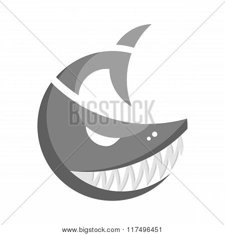 Monochrome fish logo