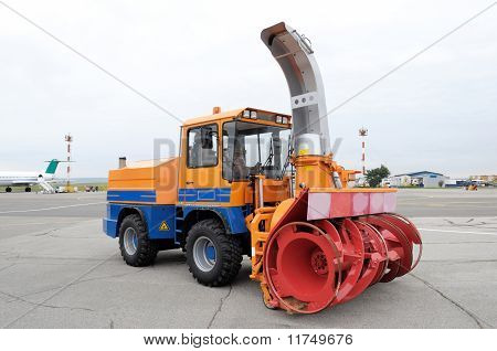 Snow Plough In Airport