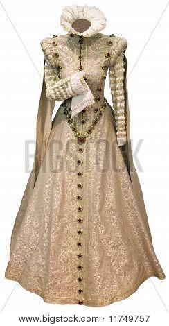 Recorte de vestido beige renacimiento