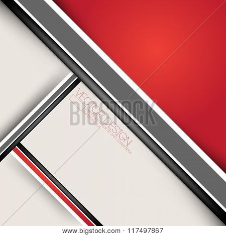 red flat layout material corporate background