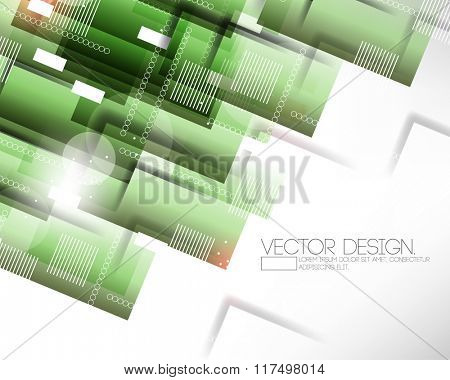 overlapping green transparent rectangle shapes modern corporate design