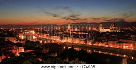 Florence Night Panorama