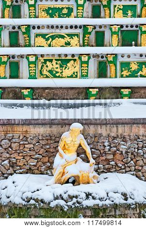 Peterhof. Russia. Allegory of the Neva River Sculpture