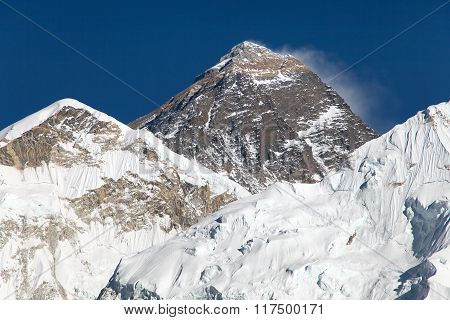 Top Of Everest From Way To Everest Base Camp