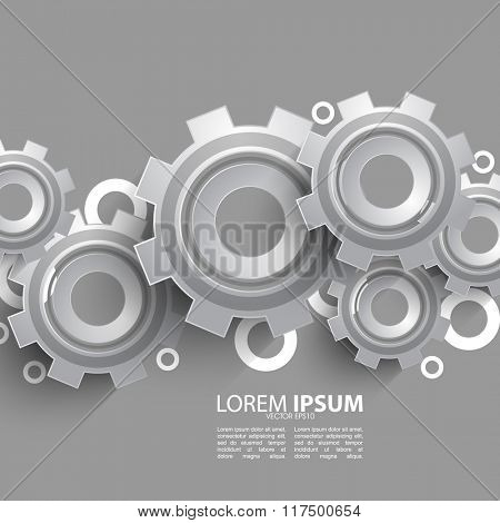 mechanical gear overlapping