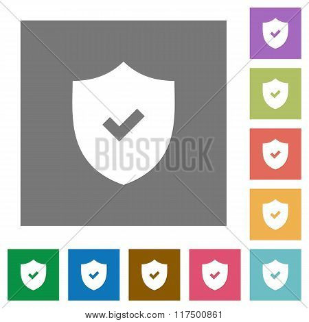 Security Active Square Flat Icons