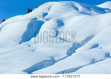 Winter Snowy Hill.