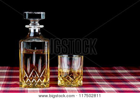 Whisky In Decanter And Crystal Glass