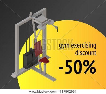 Gym exercise machine training device