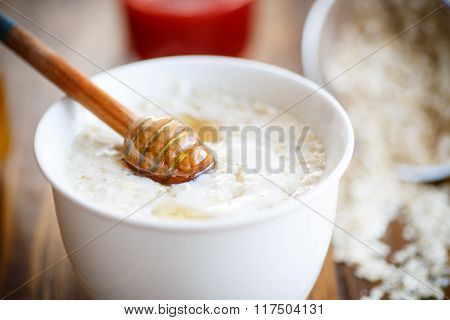 Healthy breakfast, oatmeal