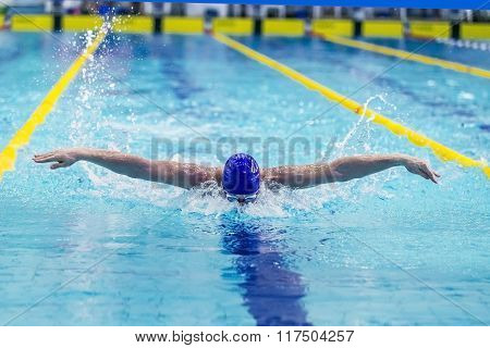 young man athlete swimmer