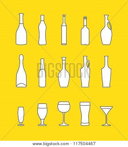 vector beverages set