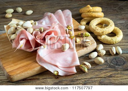 Mortadella And Pistachios