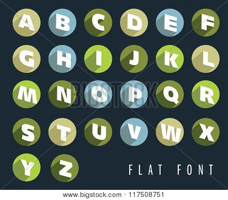Flat letters of the alphabet