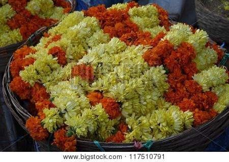 garlands from flowers