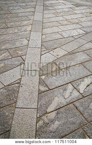 Brick In Casorate Sempione Street Lombardy