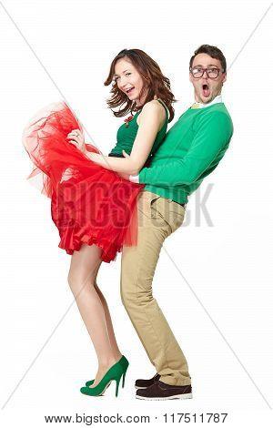 Couple doing sexy dances