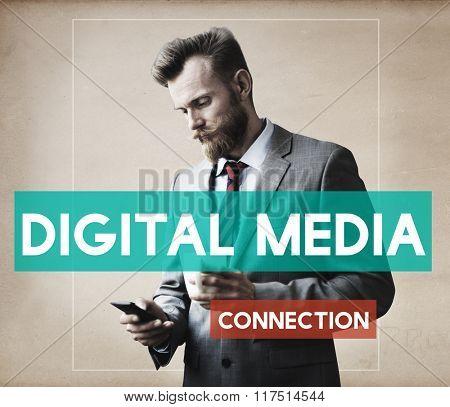 Businessman Technology Connection Communication Concept
