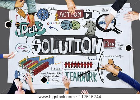 Solution Problem Solving Result Progress Concept
