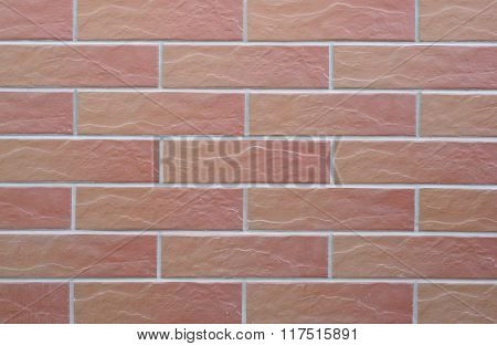 Tiles which imitate brick.