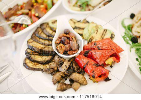 Eggplant. Grilled Vegetables, Pepper