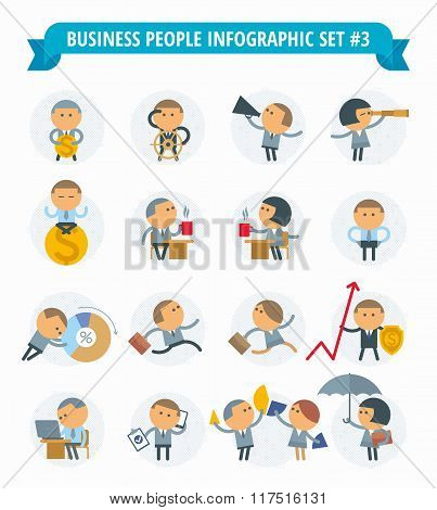 Business People Infographic Set #3