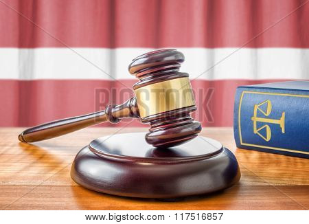 A Gavel And A Law Book - Latvia