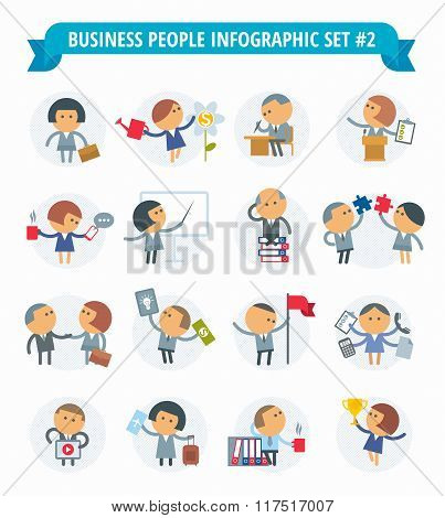 Business People Infographic Set #2