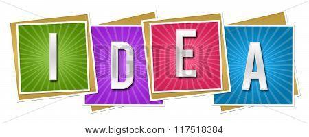 Idea Colorful Squares With Burst