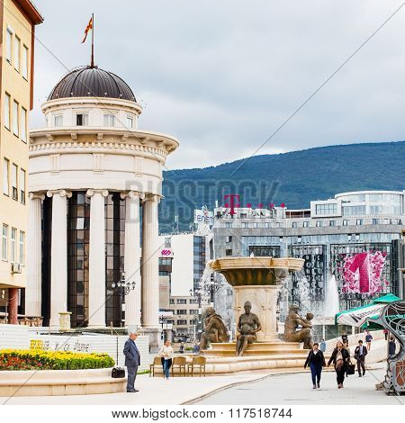 Fountain of the Mothers of Macedonia, Skopje