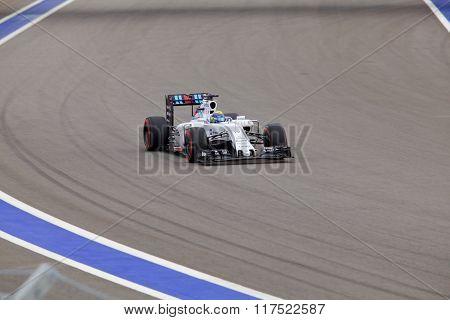 Felipe Massa of Williams Martini Racing. Formula One. Sochi Russia