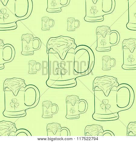 Contours with mugs of beer