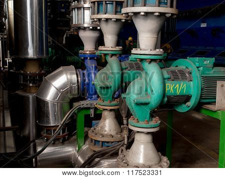 Pumps, Valves And Piping Hot And Cold Water