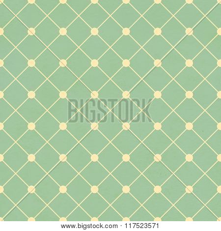 Seamless texture of the old soiled paper with geometric ornamental pattern