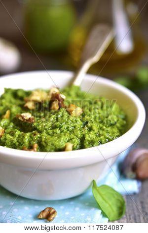 Homemade Spinach Pesto.