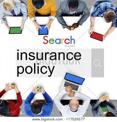 Insurance Policy Claim Protection Security Concept