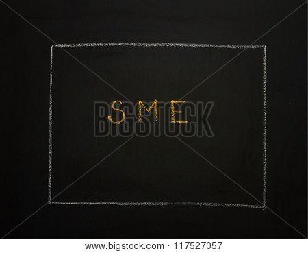 Sme On Black Background.
