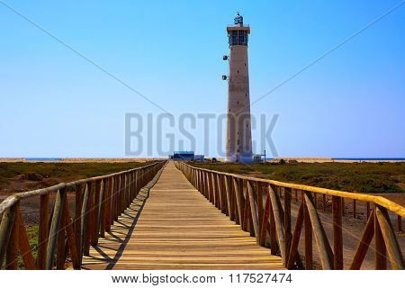 Morro Jable Matorral lighthouse Jandia in Pajara of Fuerteventura at Canary Islands