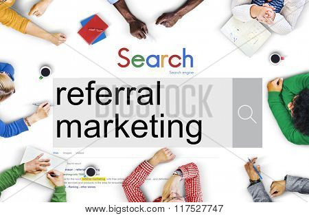 Referal Marketing Referal Advertisement Client Concept
