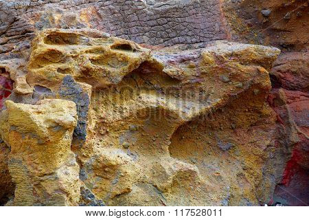 Fuerteventura La Pared stone textures at Canary Islands of Spain