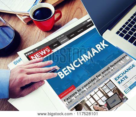 Benchmark Comparison Standard Performance Measurement Concept