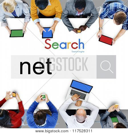 Net Accounting Earning Bookshopping Online Concept