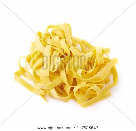 Pile of fettuccine ribbon pasta