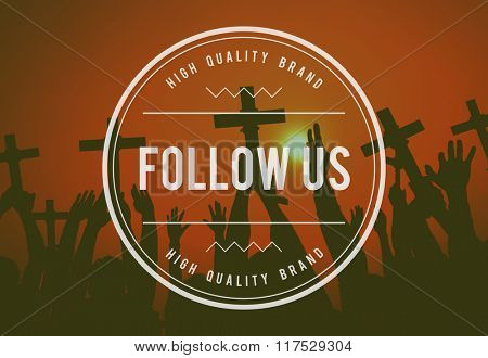 Follow Follow Us Follower Followering Sharing Concept