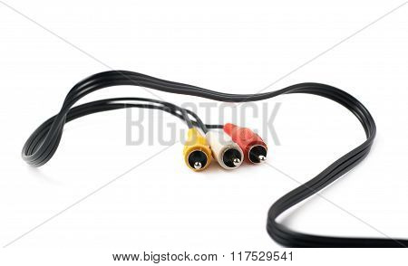 RCA plugs cable isolated